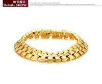 Men's Gold Beaded, Strands rare noble yellow gold men;s braclet free shipping