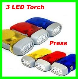 Wholesale Best price LED Green Energy saving Hand Press mini Flashlight Torch for Camping Outdoor