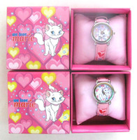 Wholesale Cute Marie Cat girls Watches Wristwatches with Free boxes Gift