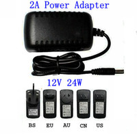 Wholesale 100Pcs AC V to DC V A x mm EU US UK AU Plug DC Power adapter charger Power Supply Adapter