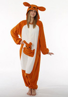 Wholesale kangaroo Various adult animal romper pajamas cosplay pyjamas onesie costume S M L XL