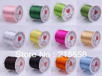 Wholesale 10 Rollsx10M Mixed MM Crystal Beading Stretch Elastic Cord Wire String DIY Craft Bracelet