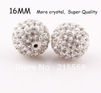 16 shamballa beads - New Crystal mm Shamballa Disco Ball Beads Rhinestone Beads ZBE23