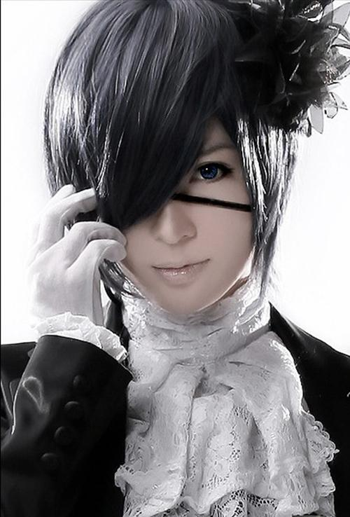Anime Short Black Gray Cosplay Unisex Styles Layers Full Hair Wig Wig Makers Japanese Cosplay