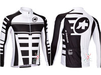 Wholesale Assos Long Sleeve Cycling Jersey Pro Team Winter Cycling Jackets Blk amp White