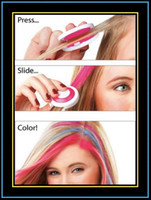Wholesale Temporary Hair Chalk Fashion Hair dye Tool Have Hot Pink Blue Fuchsia and Neon Green Mix Color