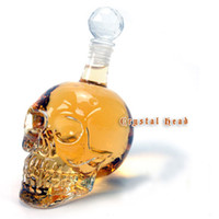 Wholesale 130ml Skull Head Vodka Crystal Glass Bottles Unique Jars for Wine Party Favors GZ005