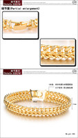 Men's Gold Link, Chain rare design yellow gold classic men;s fashio bracelet free shipping