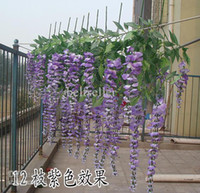 Wholesale Simulation Flower Artificial silk flower wisteria vine Douhua wedding home decoration