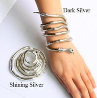Bohemian Unisex Party Flexible Stainless steel Alloy Necklace Snake