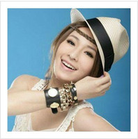 Wholesale Women Fashion Korean Style Beach Cap Summer Fedoras Straw Hat