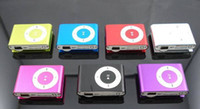 Wholesale Mini Clip Mp3 player With card slot MP3 USB Cable Earphone Box