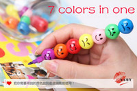 Wholesale new Stationery Colorful WaterColor Brush expressions Cartoon Pens Pencil Markers Children s Toys Gifts