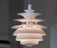 Wholesale Modern White Aluminum Louis Poulsen PH Snowball Lamp Denmark Pendant Light Chandelier Living Room Light Dia cm