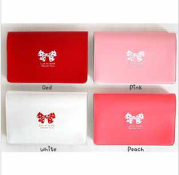 Wholesale promotion fashion butterfly tie bank team holder bag case membership bag multi function card bag
