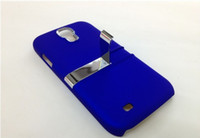 Wholesale Stand Case for galaxy s4 electroplate back cover with stand holder colorful