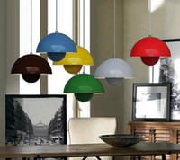 Wholesale Modern Red Yellow Green Blue White Black Aluminum Pendant Light Chandelier Living Room Light Dia cm H cm