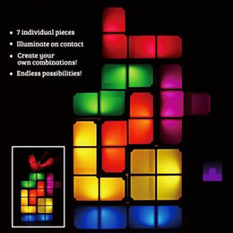 New Arrival Tetris Stackable LED lamp creative three-dimensional jigsaw puzzle Christmas gifts Free Shipping for you