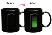 Wholesale Heat Sensitive Battery Color Changing Mug Porcelain Cup Animated Battery Coffee Mug