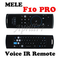 Wholesale MELE F10 PRO GHz Fly Air Mouse Mini Wireless Keyboard Intelligent Voice IR Remote Control for Universal PC TV Box