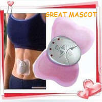 Wholesale HOT Electronical Slimming Butterfly Body Muscle Massager Pink P1