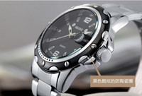 Wholesale Worldwide Free china post air White Black Stainless Steel Mens Wristwatch super waterproof luxury watches Watches quartz waistwatch