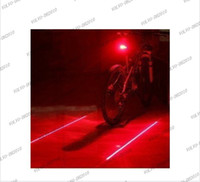 Wholesale LLFA1050 New Bicycle Cycling Laser Tail Light Laser LED Bike Safety Back Rear Led Red Light Lamp Drop shipping