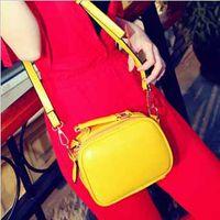 Wholesale Hot sale women packet new candy colored shoulder punk simple bag handbag Messenger bag