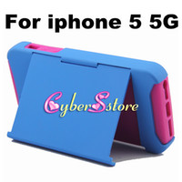 Wholesale 100pcs New Hybrid Stand PC Plastic amp Soft Silicone ID Credit Card Holder Back Case Cover for iphone G