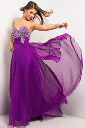 Wholesale Custom made Party Dresses Strapless Crystal Ruffles Purple Pink Orange White Chiffon Floor Length Long Prom Dress Evening Gowns BL9610