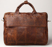 Wholesale High Quality Mens Genuine Leather Antique Style Briefcases Business Cases Laptop Attache Messenger