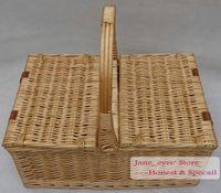 basket handle - Wicker Picnic Basket With Handle Cleaning Baskets Storage Basket Finishing basket customized