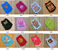 Wholesale Small Pet Dog Clothes T Shirt shirts Dress Vest Type mix order