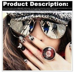 Fashion Brand Designer Frog Mirror sunglasses 2013 Hot Retro for Women blue film metal Glasses Sports for Men & women sunglasses