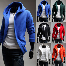 Wholesale British Style Man s Cotton Hoodies Unique Design Men sweatshirt Large Cap Cardigan Sweatshirts Six Colors C0017