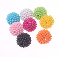 Circle 20mm acrylic beads - Assorted solid colors mm round acrylic berry beads jewelry acrylic round chunky berry beads