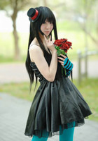 Black Boy Short Heat Resistant Long black Cosplay Party Straight Anime Wig 60CM free shipping