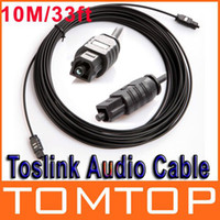 Wholesale 33FT M Digital Optical Optic Fiber Toslink Audio Cable OD2 mm AV Cable V413