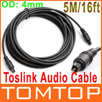 Wholesale 16FT M Digital Optical Optic Fiber Toslink Audio Cable OD mm AV Cable V414