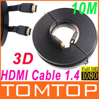 Wholesale 10M FT Full P D Flat HDMI Cable for XBOX PS3 HDTV HDMI Male to Male Digital Cable V390