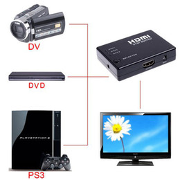 Wholesale Mini Port P Video HDMI Switch HDMI Switcher HDMI Splitter with IR Remote splitter box C1182