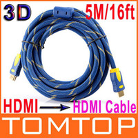 Wholesale 16FT M P D HDMI Cable Male to Male HDMI Digital A V for LCD DVD HDTV For XBOX PS3 V405