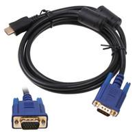 HDMI Gold Maschio a VGA HD-15 Cavo 6FT 1,8 M cavo da HDMI a VGA cavo spedizione Gratuita C1361