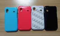 Plastic For Samsung For Christmas New Sublimation blank case cover for Samsung S5830 (Galaxy Ace) with plate+glue DHL Fedex free shipping 100pcs lot