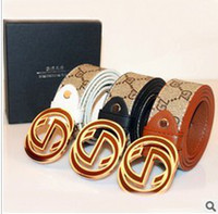 Wholesale Cheap Fashion Stylish Faux Leather Premium G Shape Metal Buckle Belt