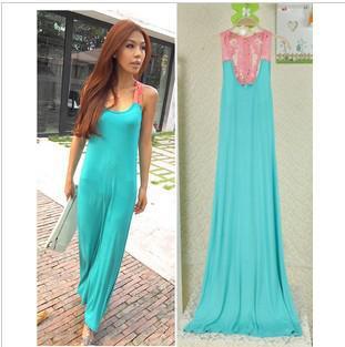 Spandex maxi dress