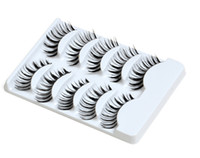 Wholesale 5 Pairs Natural False Invisible Eyelashes Hand Made MakeUp Cosmetic H2007A