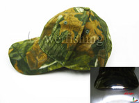camouflage wholesale - Fishing LED Light caps Camouflage outdoor breathable LED caps Cotton caps with velcro buckle