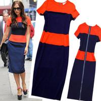 Strapless best fashion careers - fashion summer elastic OL slim Back Zippper knee length women Dresses Summer Best career dress