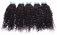 Wholesale 100 peruvian virgin remy human hair weft MIX LENGTH quot quot deep wave color b IN STOCK pack Fast DHL